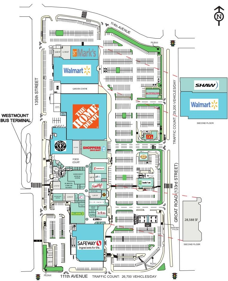 Westmount Shopping Centre shopping plan (With images