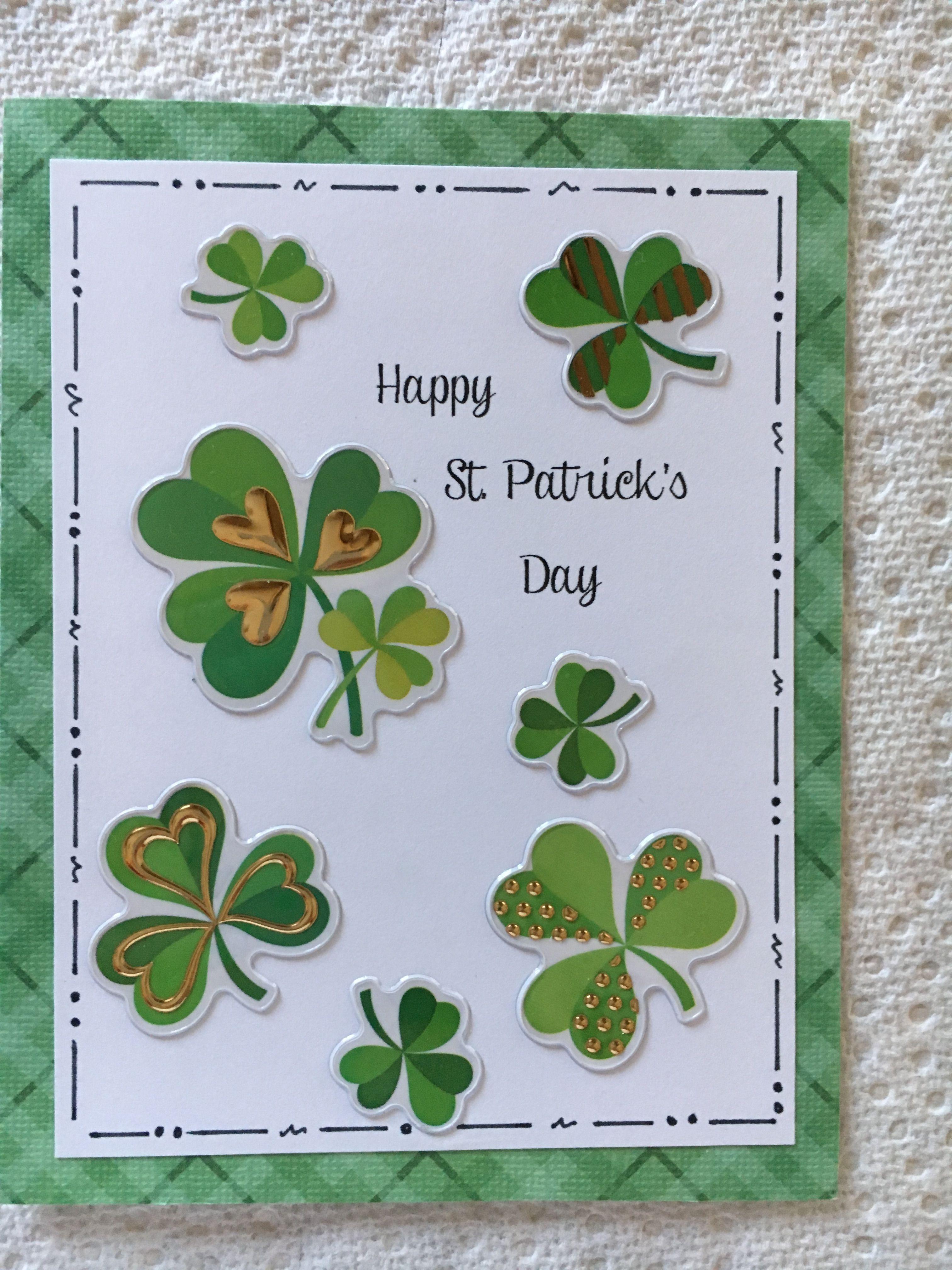 St Patrick S Day Card St Patricks Day Cards San Patrick Day Irish Cards