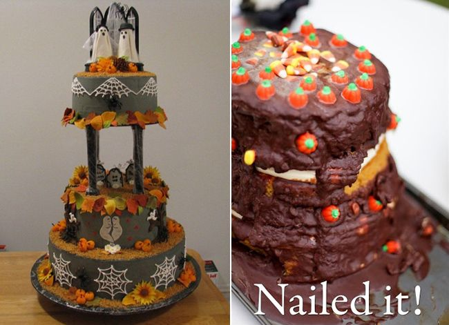 Pinterest Wedding Cakes: Halloween Wedding Cake Is A Showstopper... As A