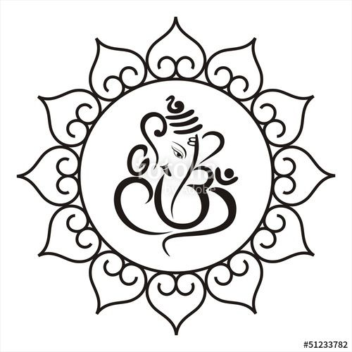 Vector Ganesha Hindu Wedding Card Royal Rajasthan India
