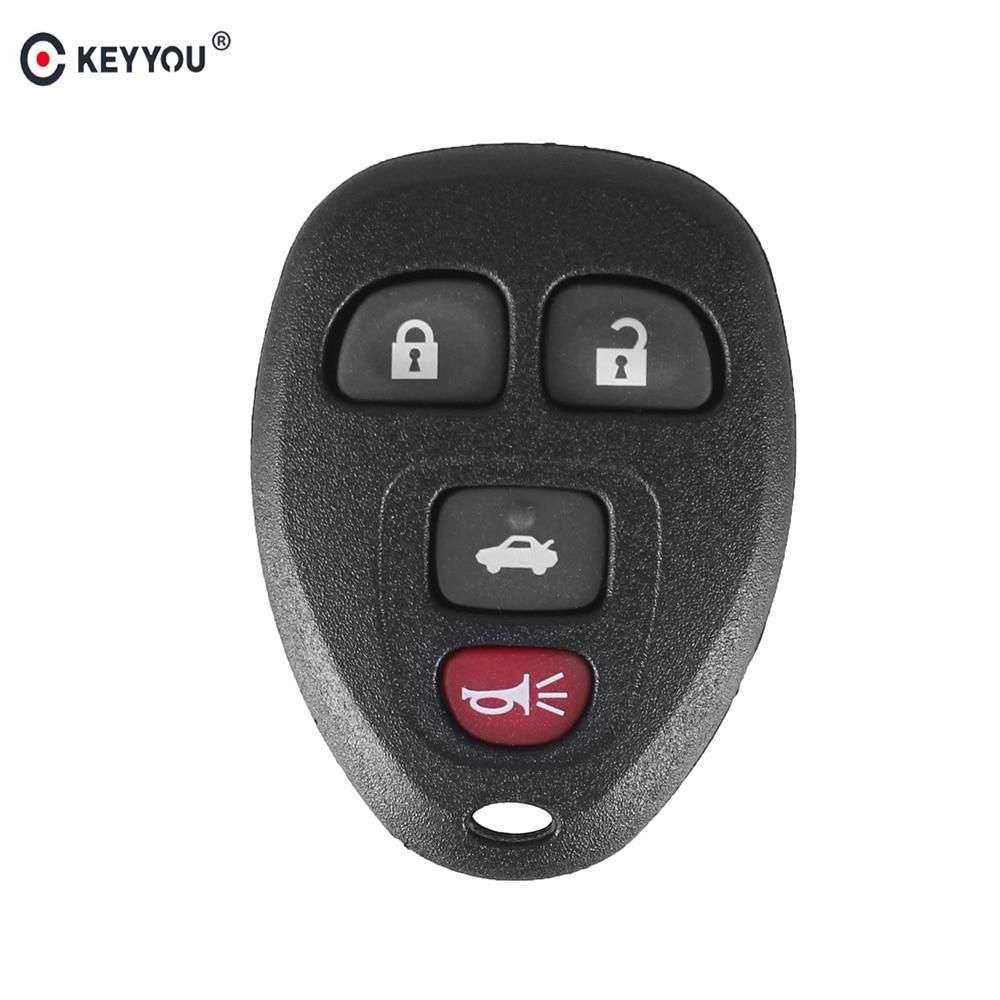 Keyyou 4 Button Remote Car Key Fob Shell Case For Chevrolet Malibu