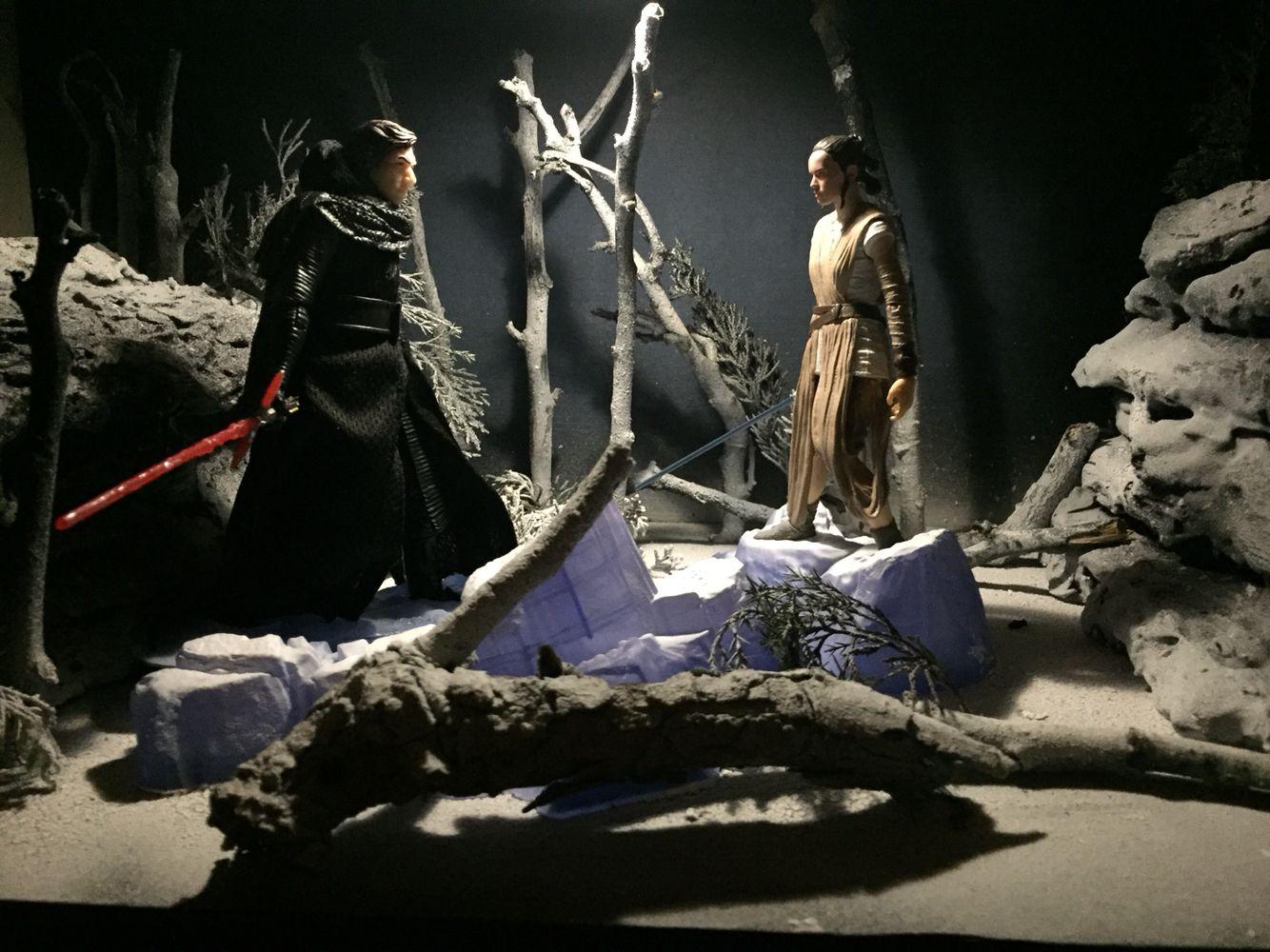 Star Wars Black Series Starkiller Base Fight Custom Diorama