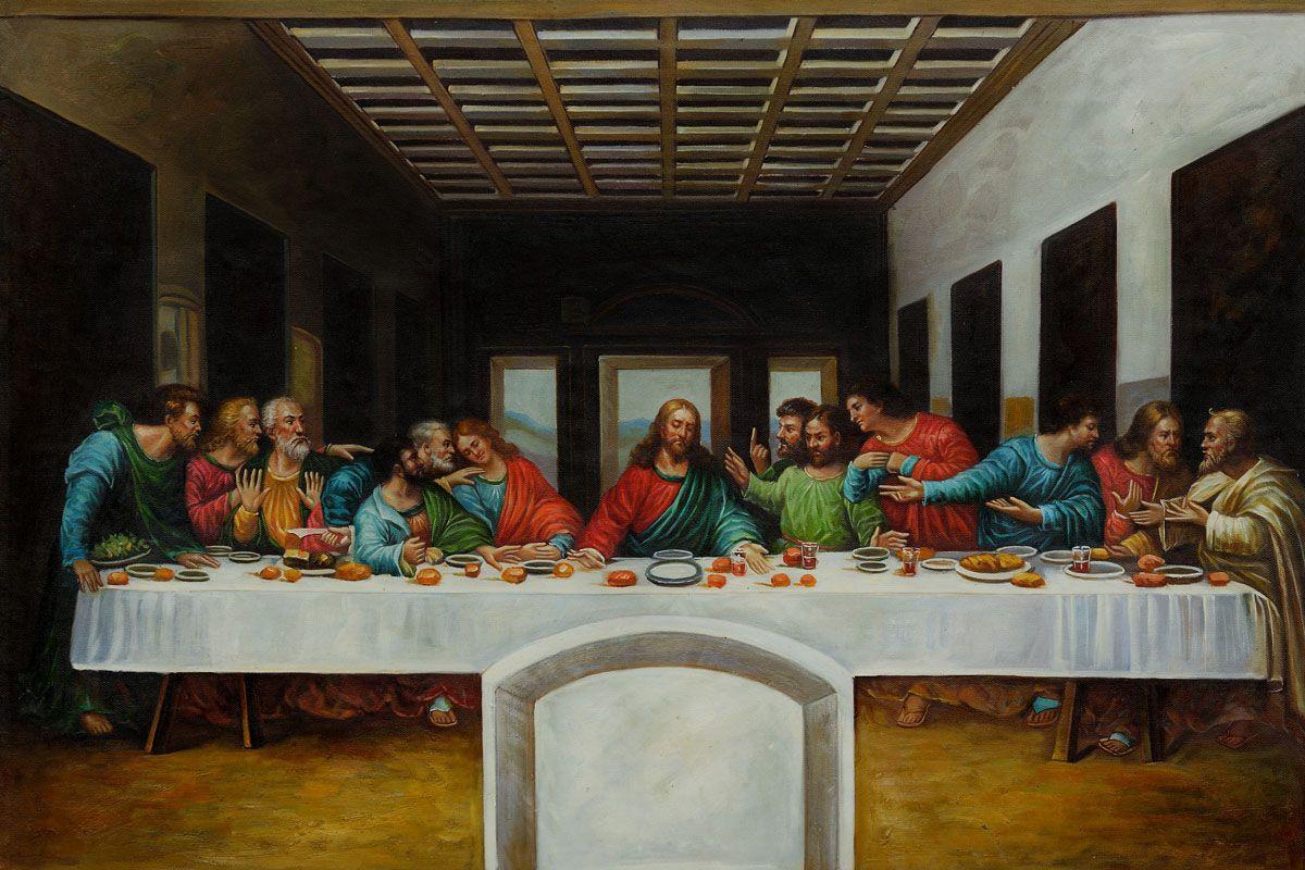 Da Vinci The Last Supper Canvas Art Reproduction Oil