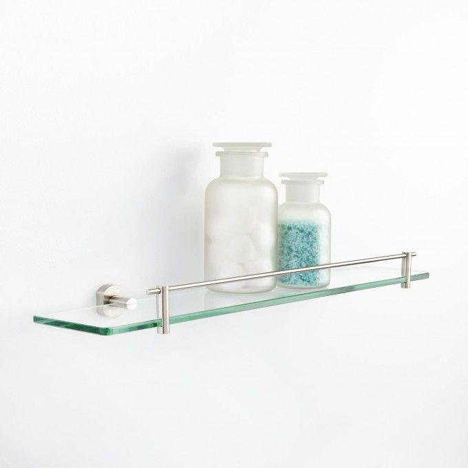 Marlton Tempered Glass Shelf - Bathroom Shelves - Bathroom