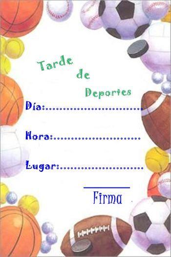 Invitación Deportiva Cumpleaños De Deportes Invitaciones