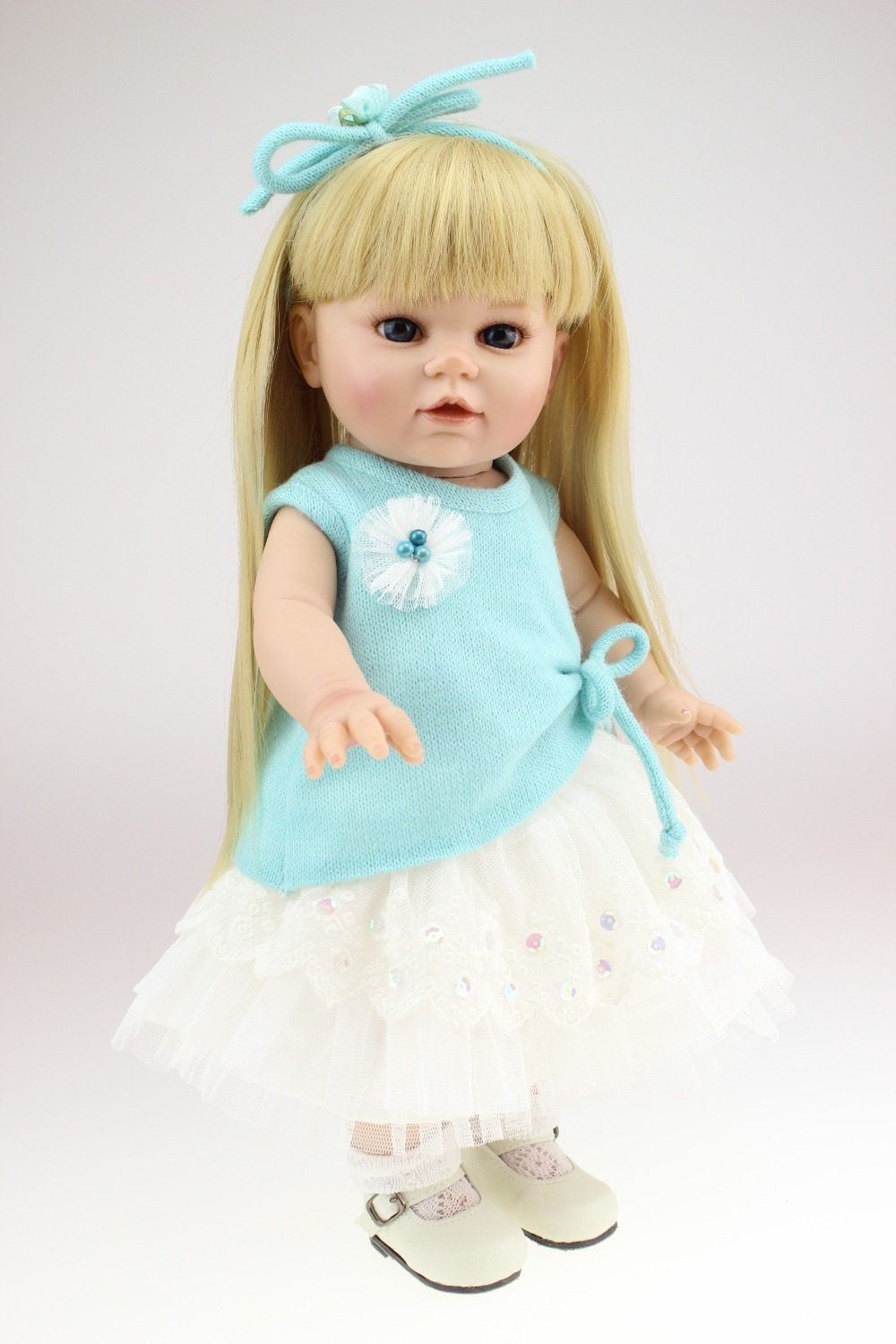 57.15$  Watch now - http://aliqtk.worldwells.pw/go.php?t=32364809713 - Vinyl 16 inch american girl dolls lifelike baby doll toys can bathe play house girl brinquedos kid birthday christmas gift