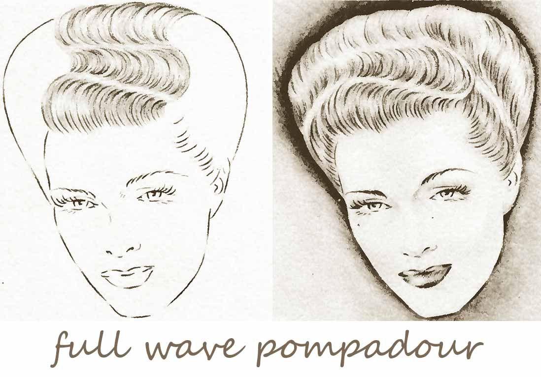 1940s-Hairstyles-Handbook---full-wave-pomp | Vintage hair ...