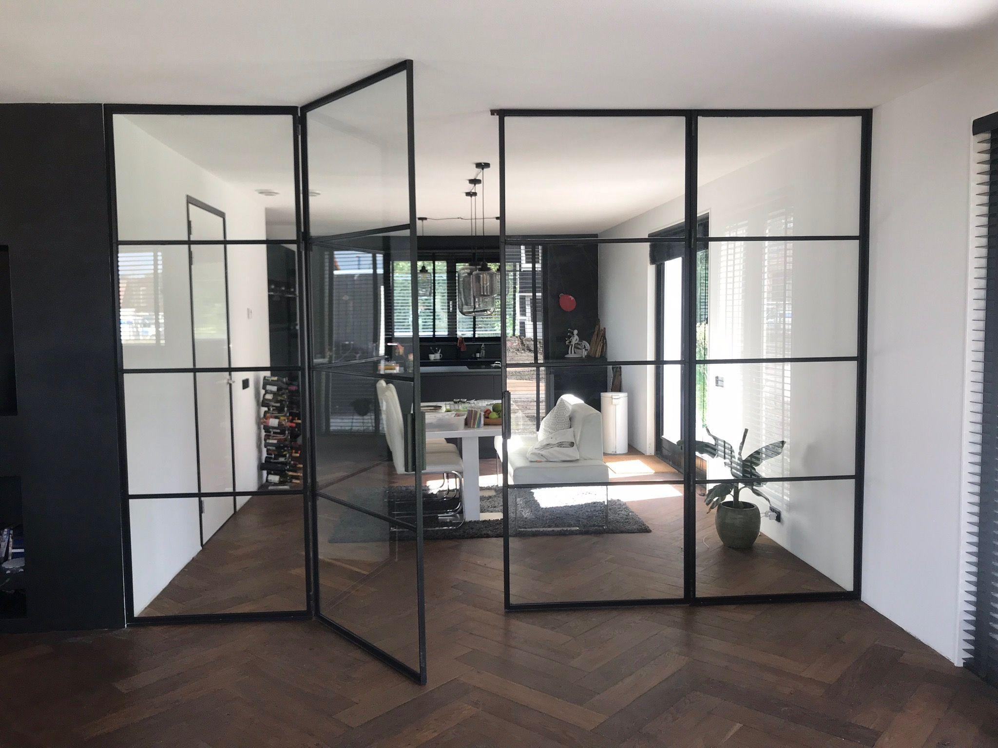 Mooie Glas Wand Met 2 Deuren Industrial Works Gewoon Maatwerk Huis Interieur Glazen Wanden Deuren Interieur