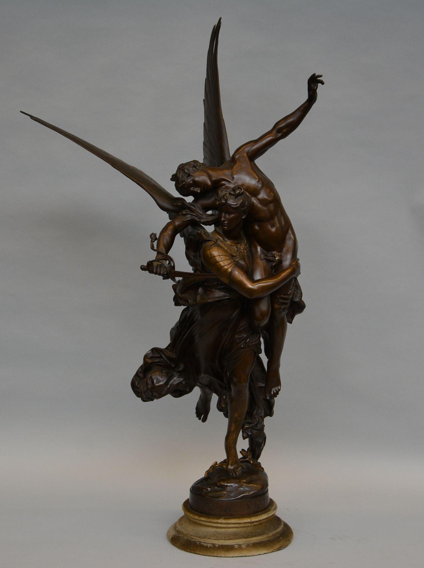An impressive bronze figural sculpture, Gloria Victis
