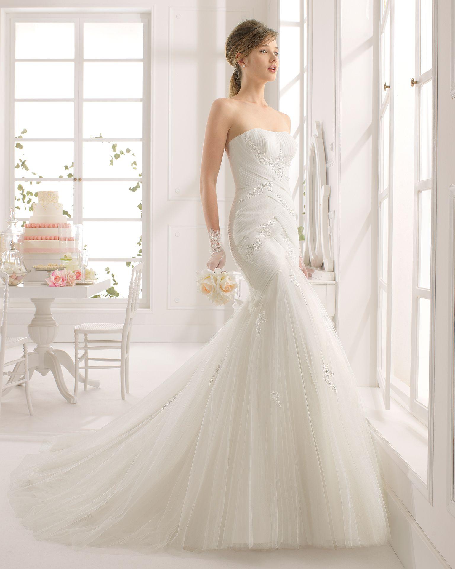 Alejandra vestido de novia corte sirena | Wedding Dress | Pinterest ...