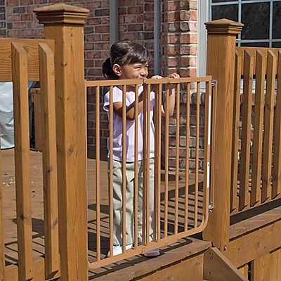 Onestepahead Com Non Rust Outdoor Safety Gate That Is The Color Of