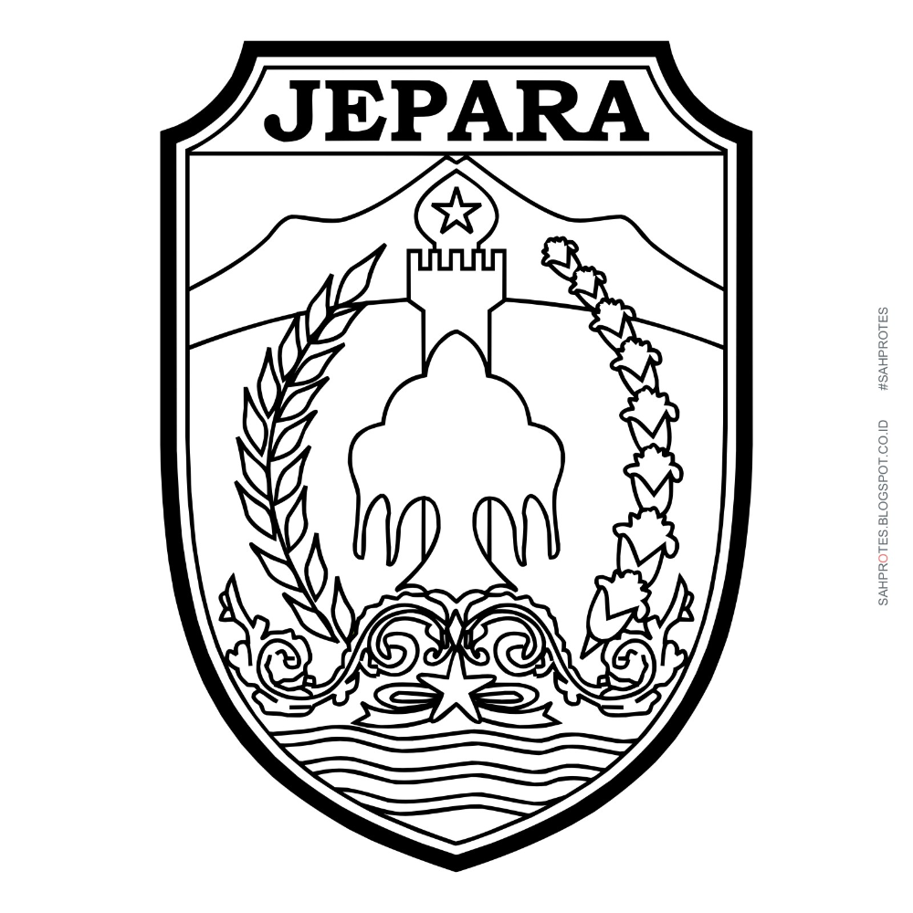 Logo Kabupaten Jepara Hitam Putih (example Themes Hive