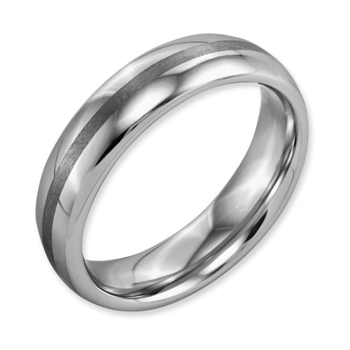 Chisel Dura Tungsten 6mm Brushed And Polished Band 114
