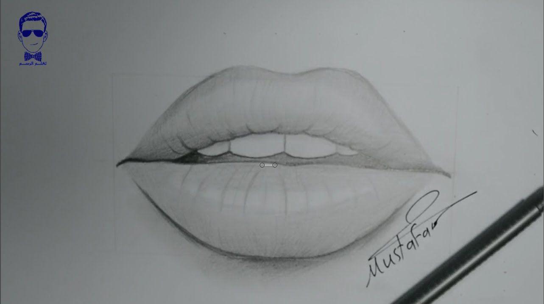 تعلم رسم الشفاه الفم مع الخطوت للمبتدئين Pencil Art Drawings Pencil Drawings Drawings