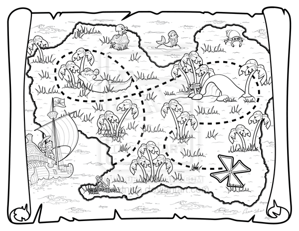 Pirate Map by on deviantART
