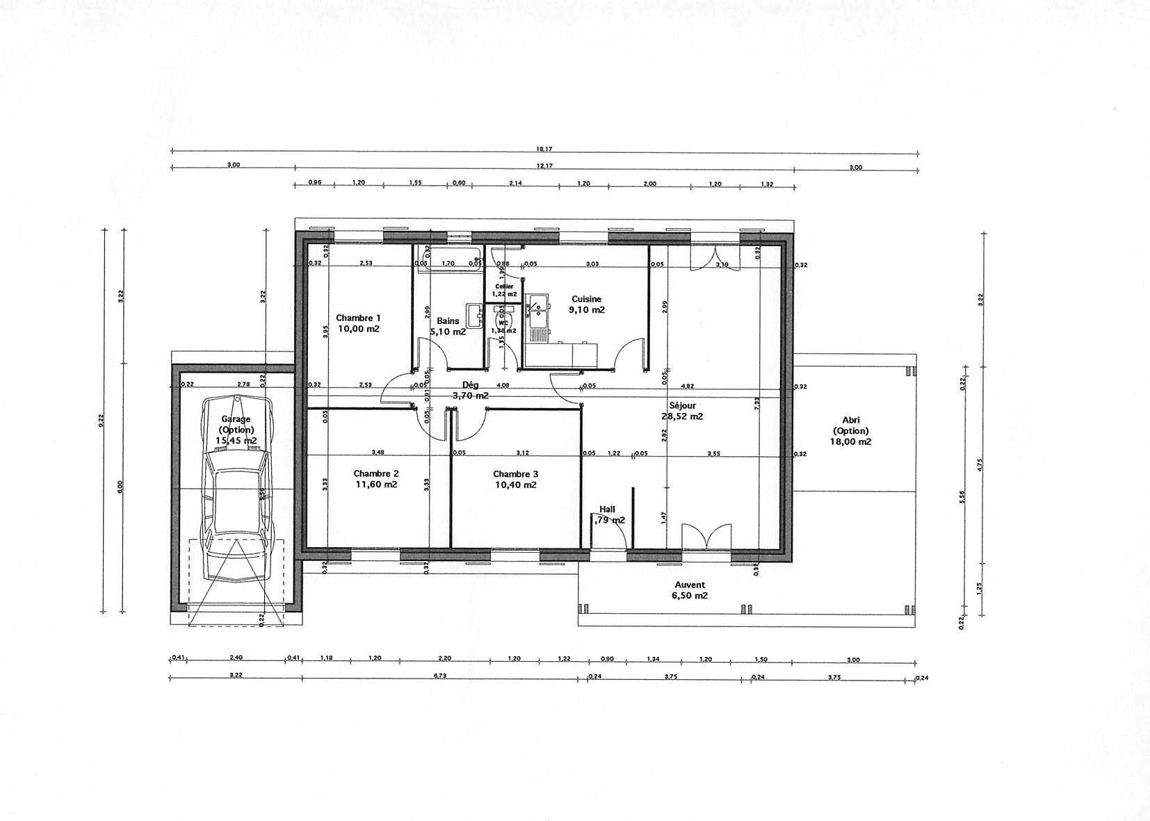 Plan Chalet 80m2 Recherche Google Hal