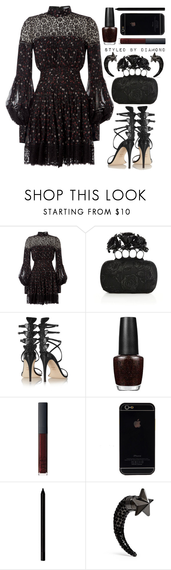 """Boa Noite"" by diamxo ❤ liked on Polyvore featuring mode, Alexander McQueen, Fendi, OPI, NARS Cosmetics, Giorgio Armani et Givenchy"