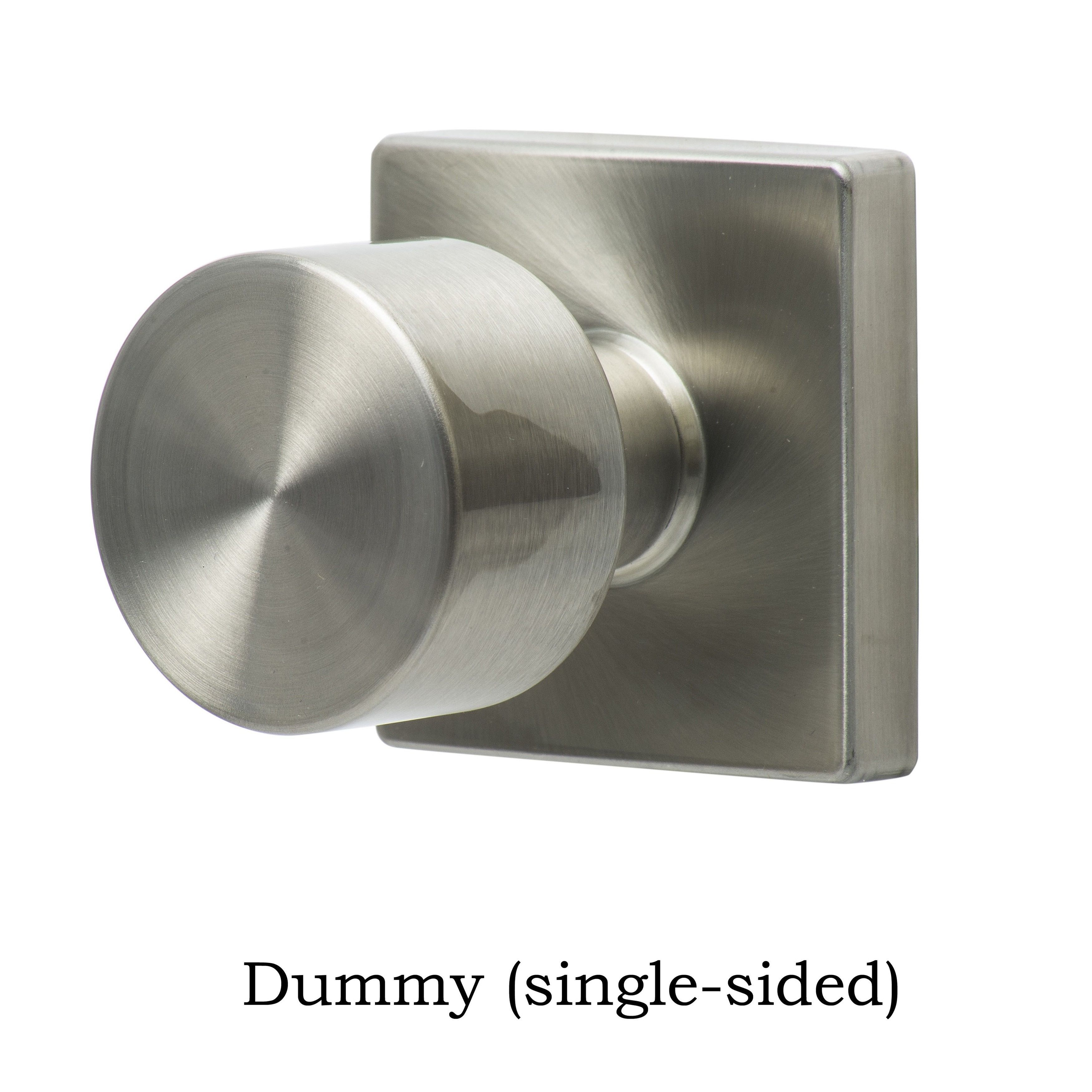 Sure Loc Bergen Stainless Steel Square Door Knob (Dummy Functin (one Sided)