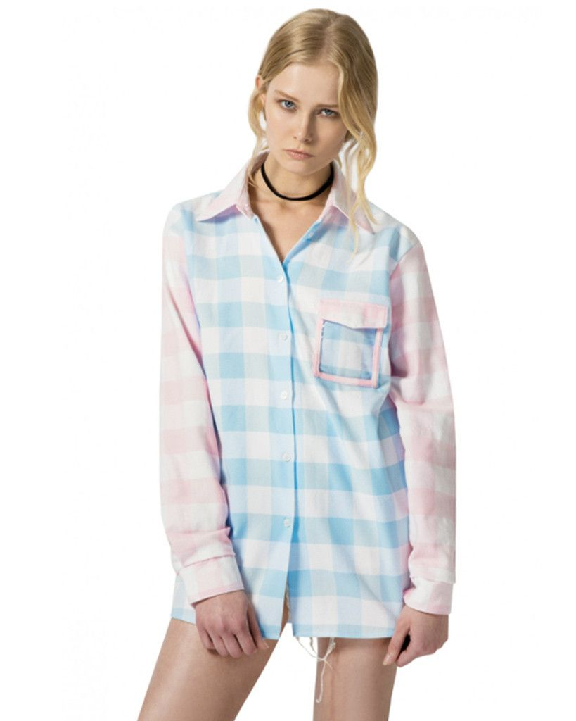d1117bdc3181c PASTEL PLAID SHIRT | Fashion/Beauty | Shirts, Plaid, Tunic tops