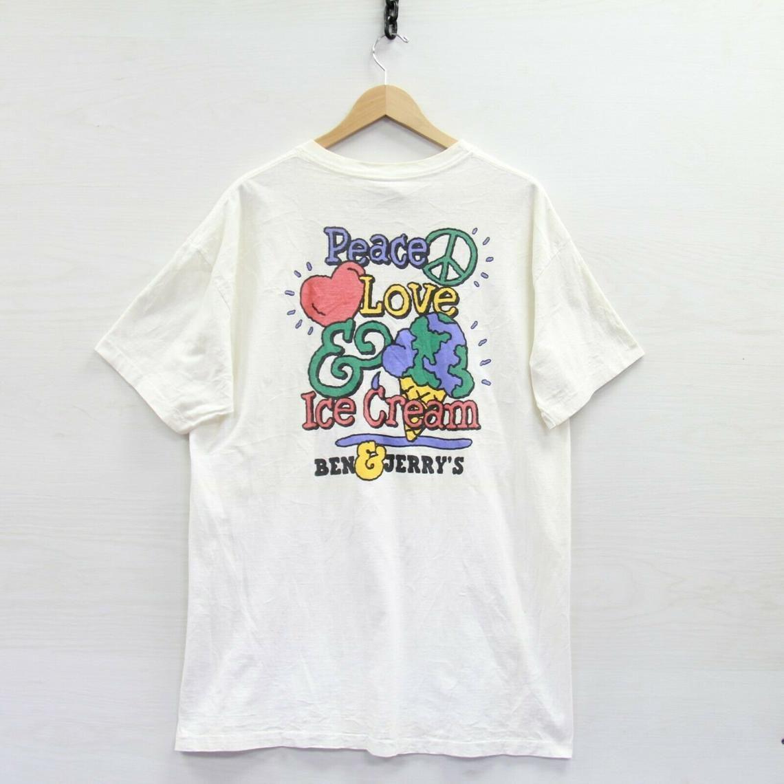 Vintage 90s Women\u2019s Graphic Print MTV Yellow and White Ringer TShirt M