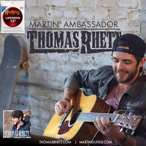 Martin Ambassador Thomas Rhett Chooses Sp Lifespans Martin Guitar Thomas Rhett Ambassador