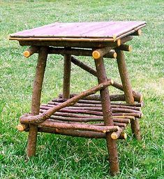 around the bend willow furniture :: end table :: Tables & Shelving. I think I could make a few of these #twigfurniture