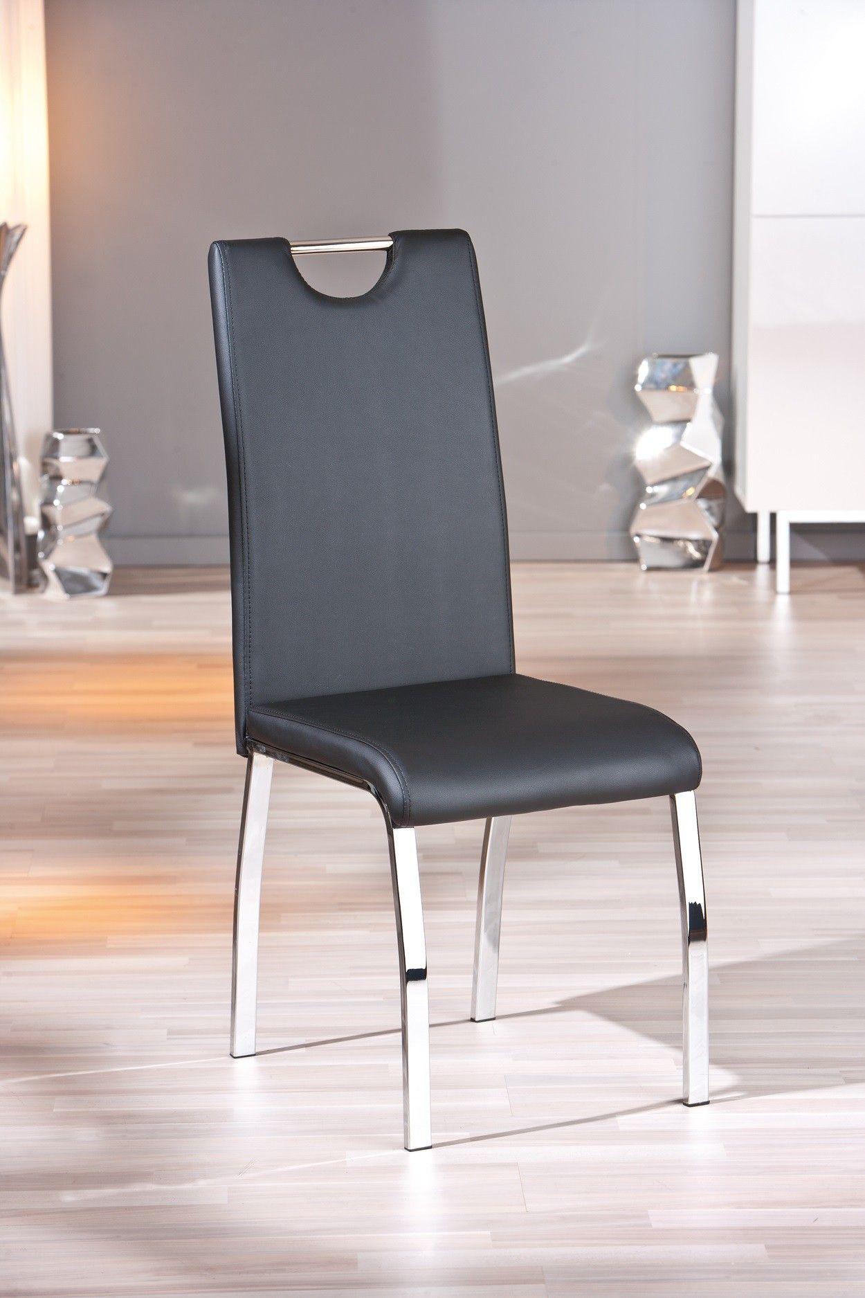 Chaise Design De Salle A Manger Coloris Noir Lot De 2 Ushuaya
