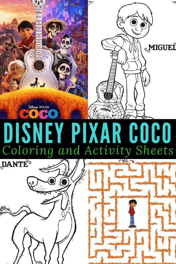 Páginas para colorear de la película Coco | Páginas para colorear ...