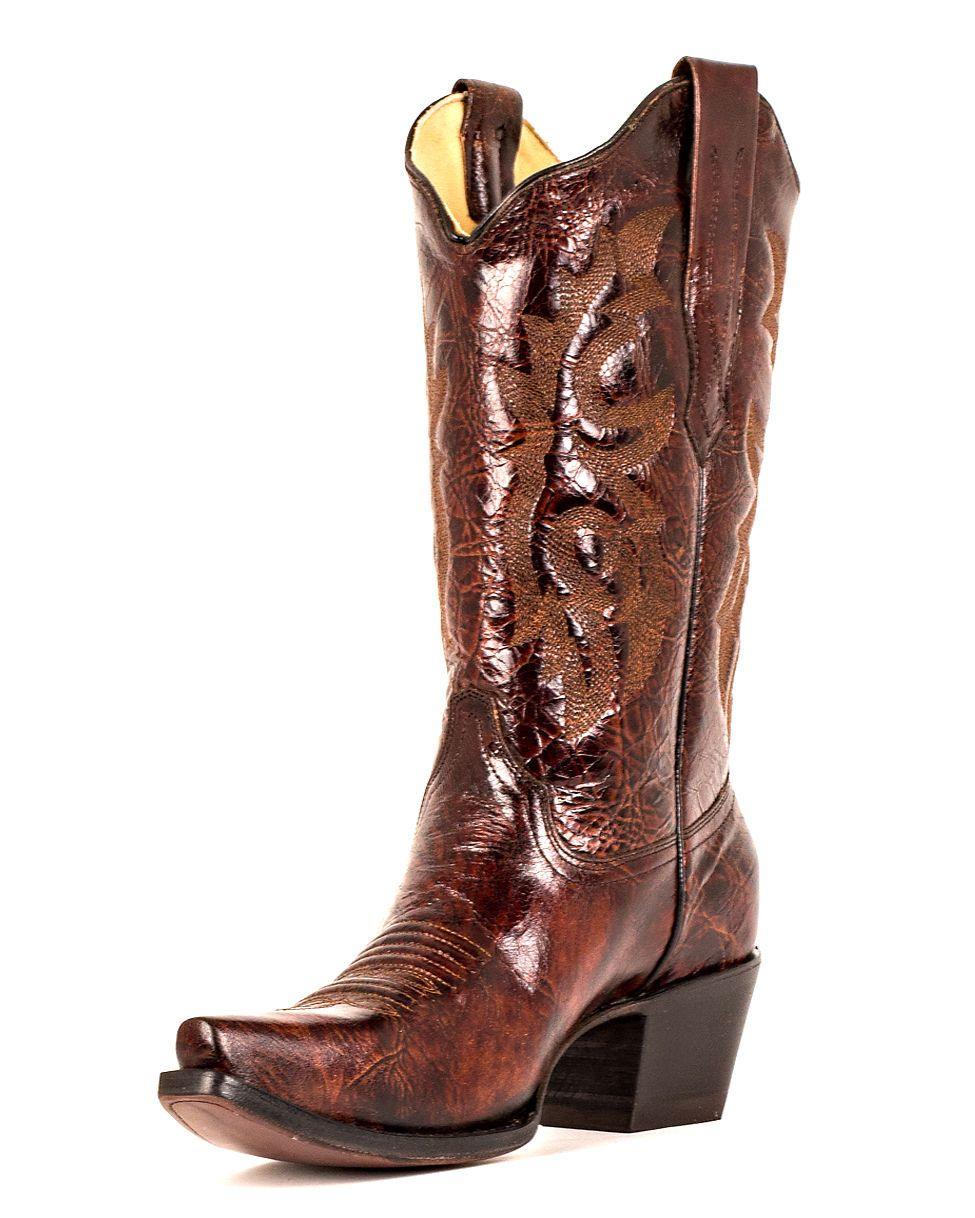 d69b2e5fab8635 OMGosh I LOVE these boots!!! Corral Women s Brown   Black Marble Vegas Boot  - A2519