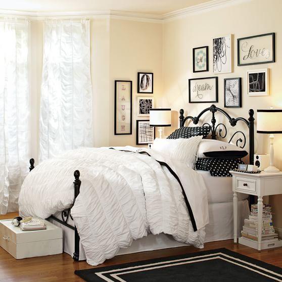 Best Decorator Border Rug Black Pbteen Girl Bedroom 400 x 300