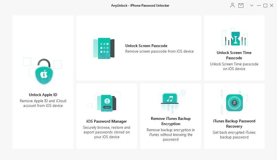 برنامج Anyunlock لفتح قفل الايفون واستعادة كلمة مرور نسخة ايتونز الاحتياطية Unlock Screen Icloud Password Manager