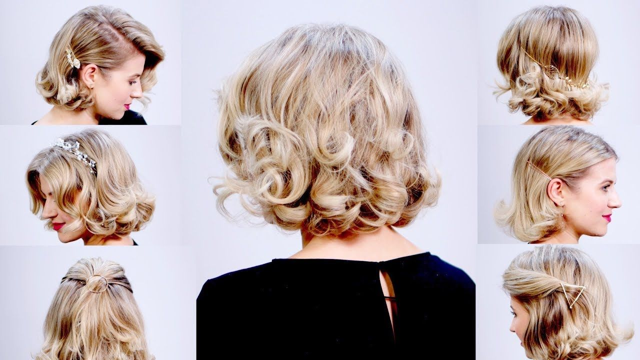 How To Soft Retro Waves And 5 Ways To Accessorize Your Short Hair Milabu Youtube Short Hair Styles Waves Hair Tutorial Short Retro Hair