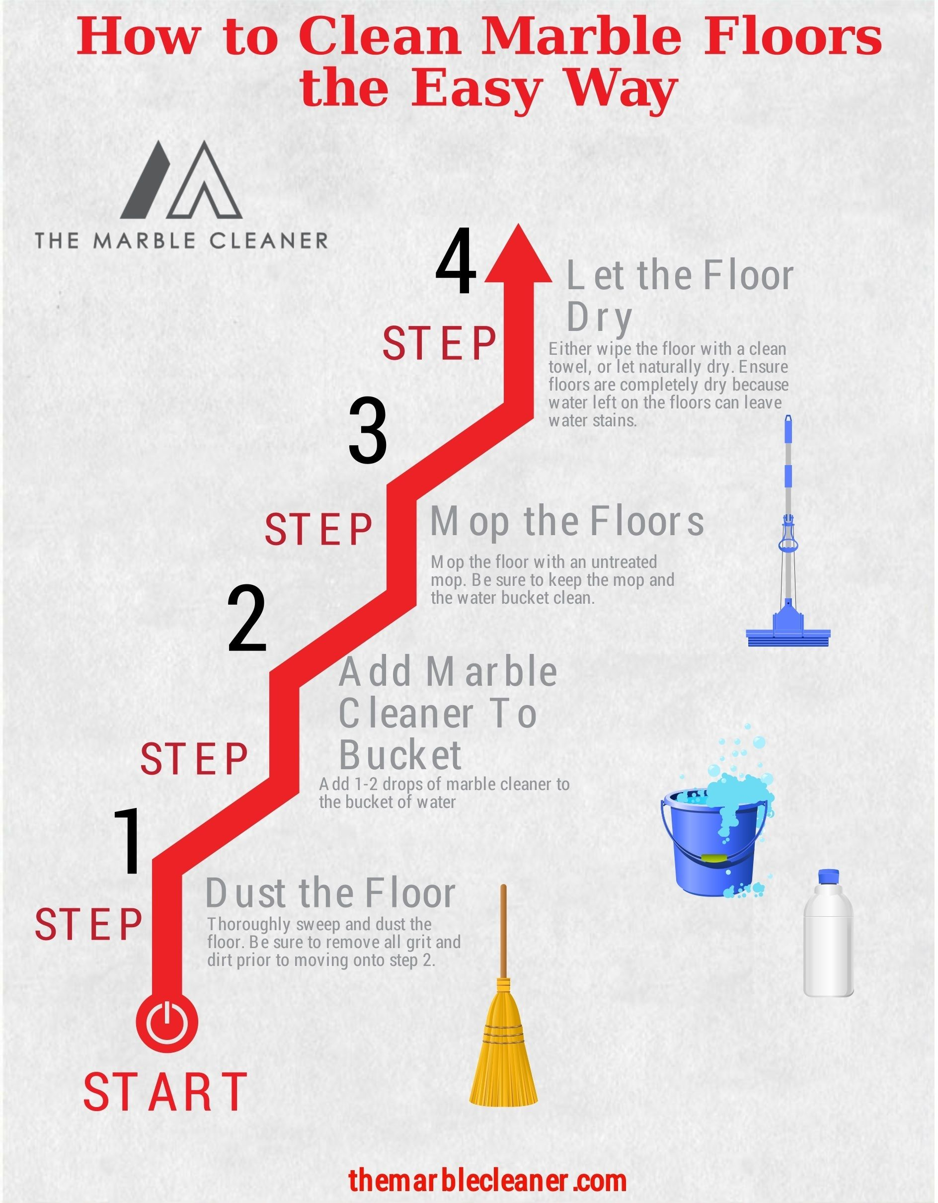 How To Clean Marble Floors The Easy Way Cleaning Marble Floors