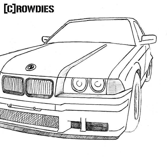Drawing Zeichnung Bmw Oldtimer Bmw Autos