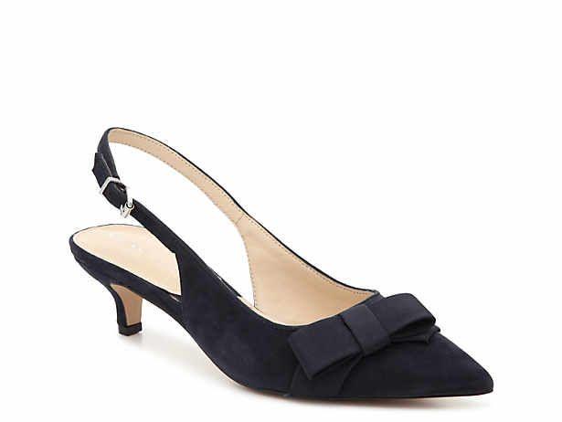 slingback kitten heel DSW Shoes, Navy shoes, Fashion