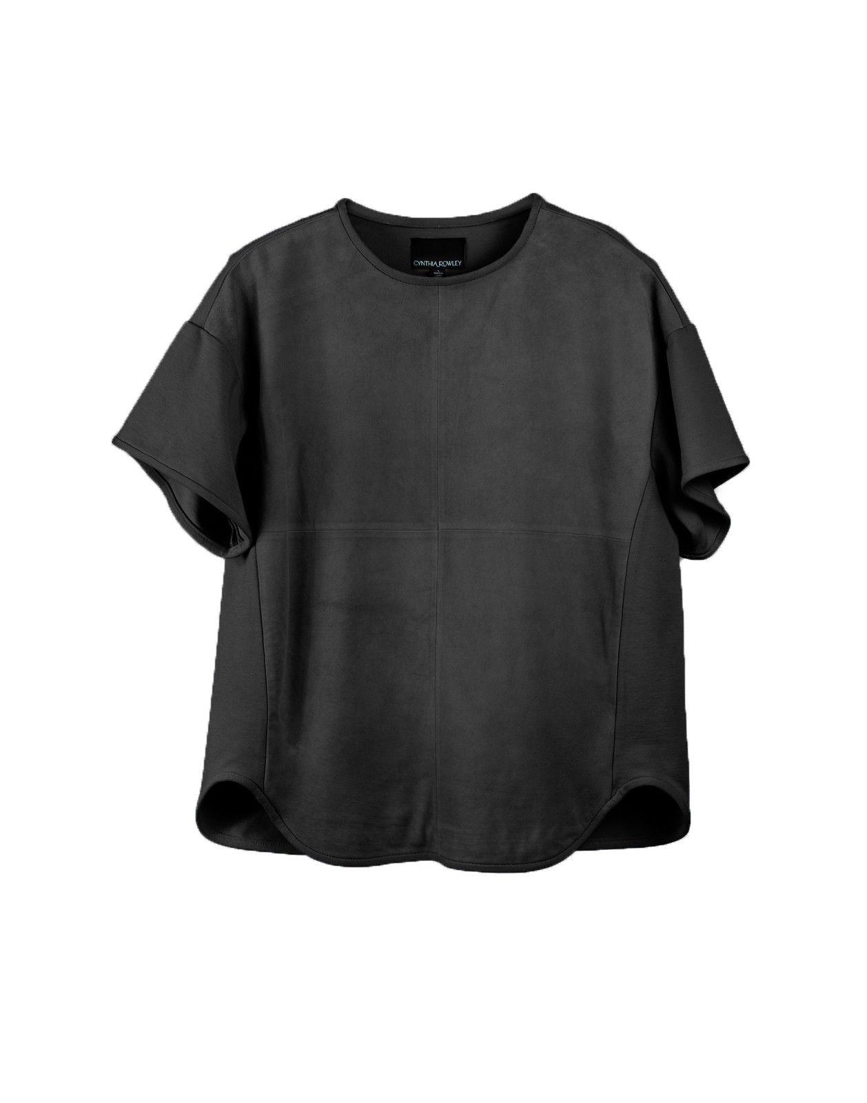 b7bc8696dc3a Cynthia Rowley - Suede Sweatshirt Tee | Looks We Love | Pinterest ...