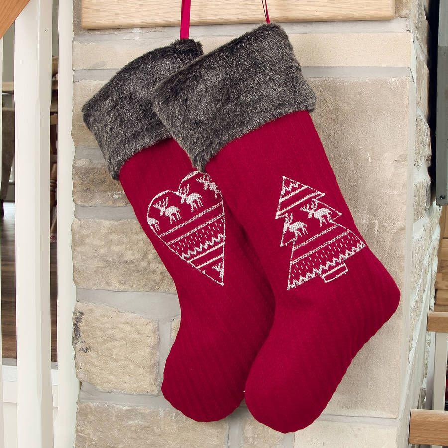 Luxury Nordic Christmas stockings | •Christmas• | Pinterest | Stockings
