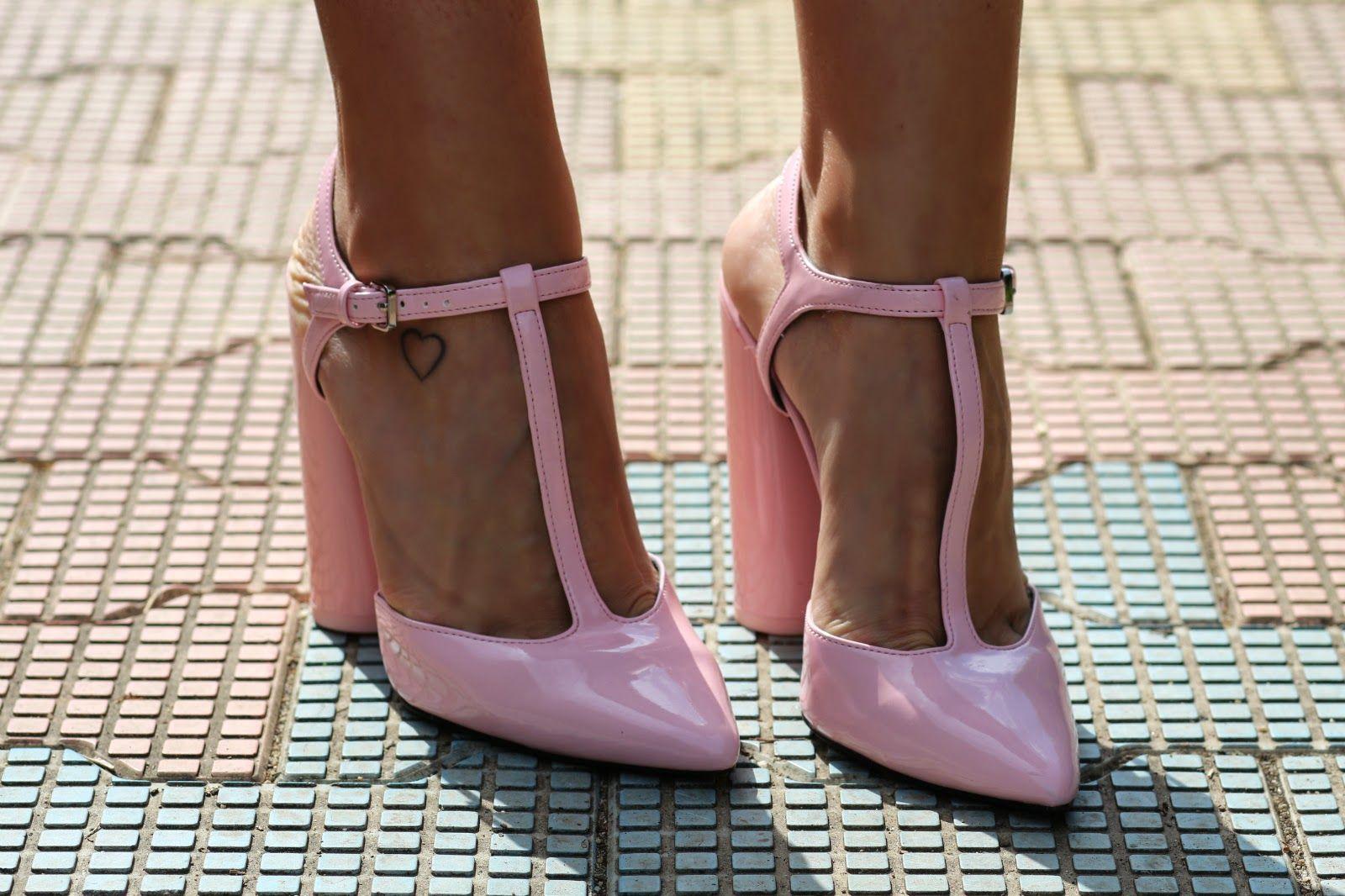 powdery pink zara shoes  sandra bendre