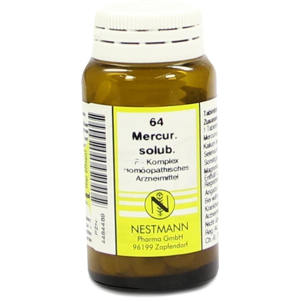 MERCURIUS SOLUBILIS F Komplex Nr.64 Tabletten:   Packungsinhalt: 120 St Tabletten PZN: 04484489 Hersteller: NESTMANN Pharma GmbH Preis:…