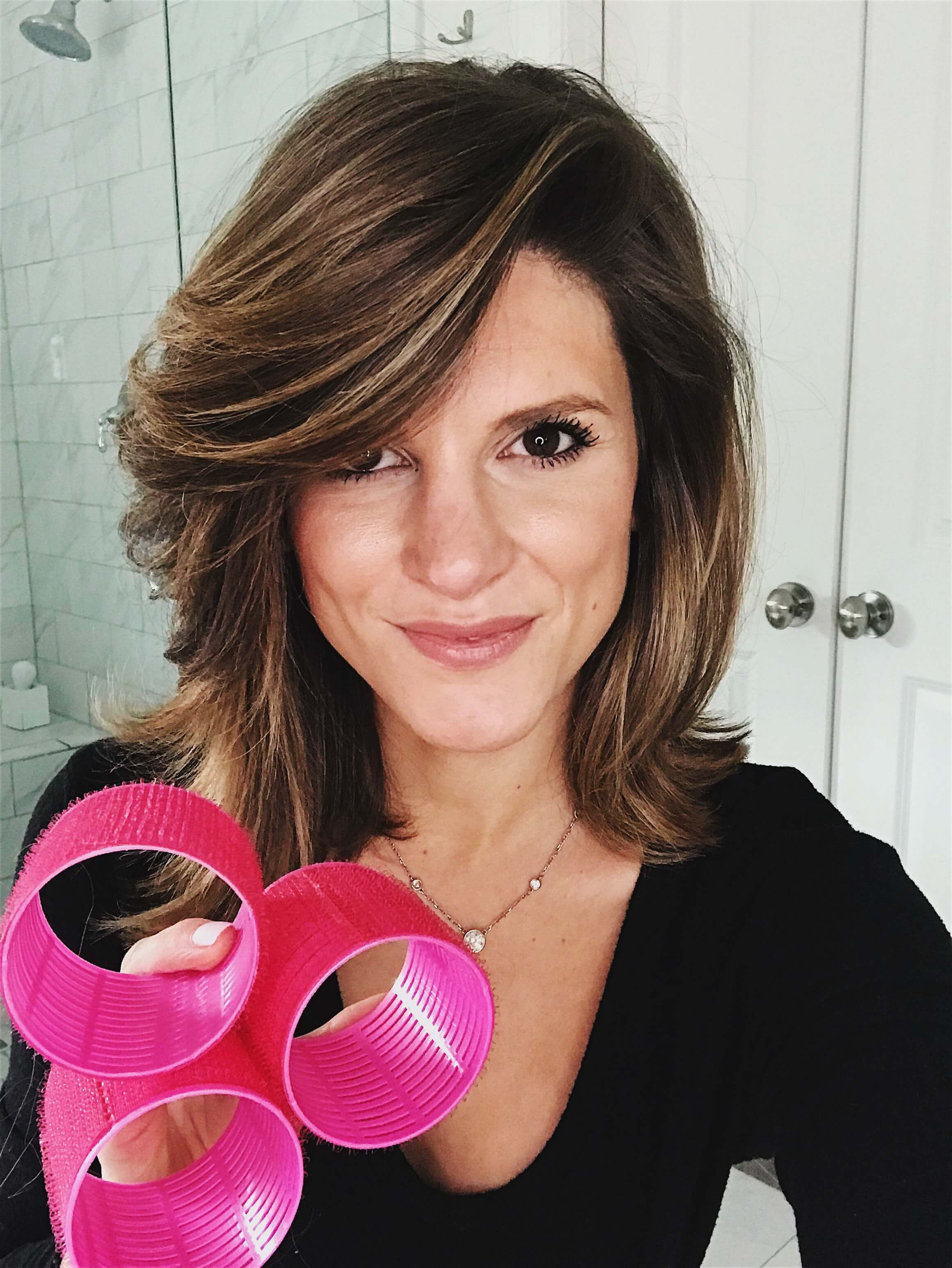 How I Use Velcro Rollers For Volume Brightontheday Velcro Rollers Velcro Hair Rollers Hair Rollers Tutorial
