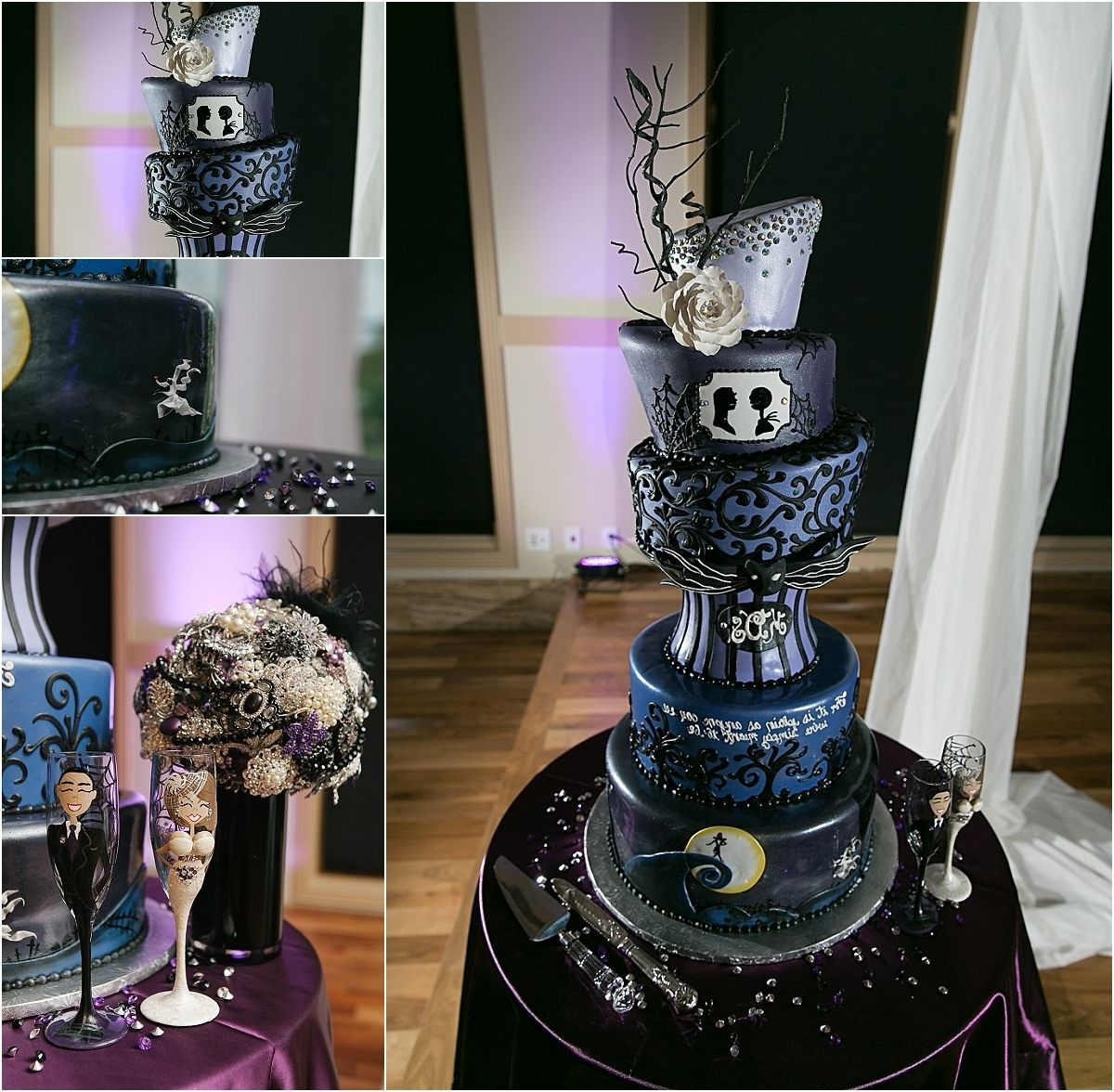 Tim Burton Themed Wedding Cakes Nightmare Before Christmas Wedding Christmas Wedding Cakes Christmas Wedding Themes