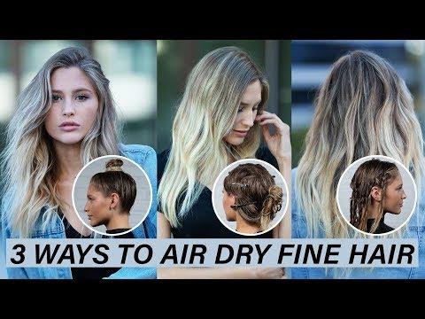 3 Ways To Air Dry Fine Hair | Kenra Platinum - YouTube