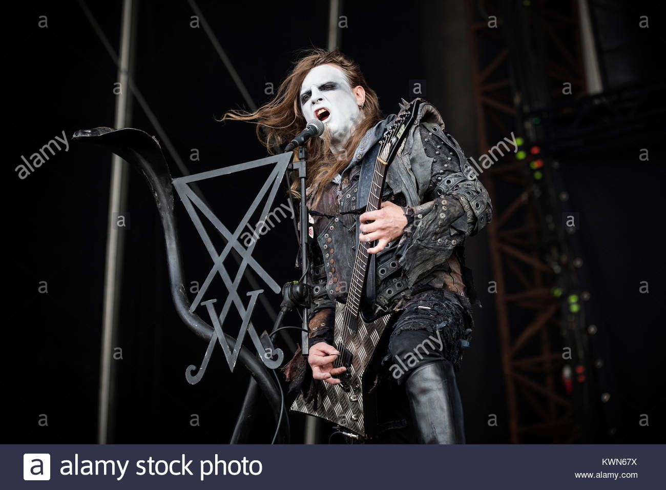 Download This Stock Image The Polish Death Metal Band Behemoth Performs A Live Concert At The Scandinavian Heavy Metal Fe Death Metal Live Concert Metal Bands