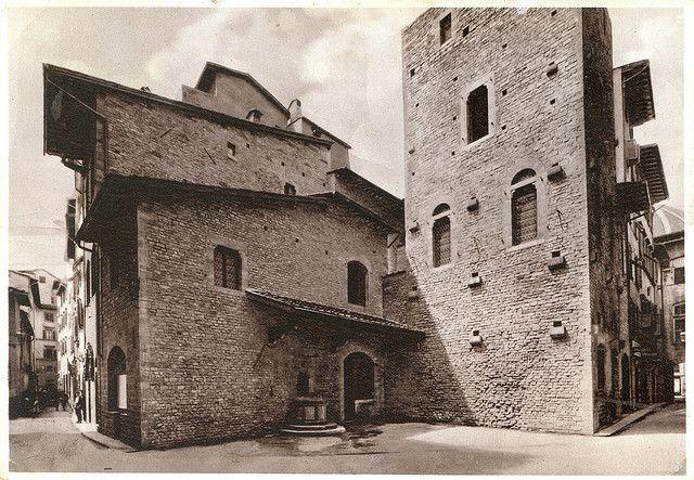 Firenze Casa Di Dante Alighieri Postcard 1946 06 05 Firenze Italy Favorite Places