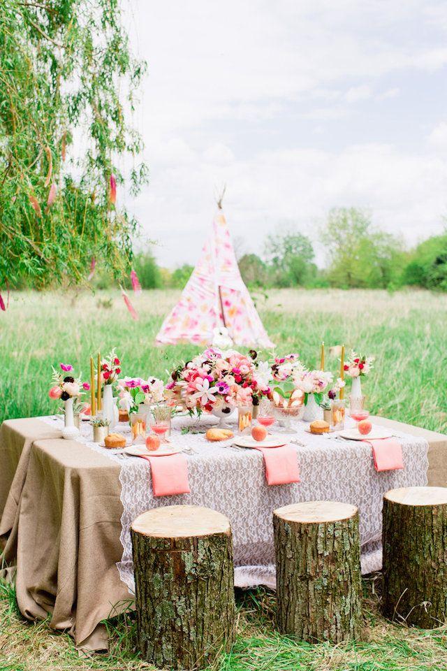 Bohemian Bridal Shower From Smitten Magazine Wedding