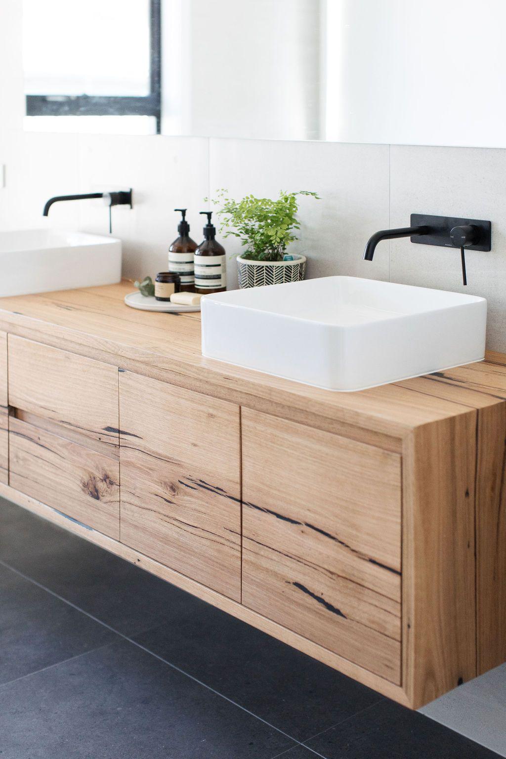 Solid Timber Bathroom Vanity Bombora Custom Furniture Timber