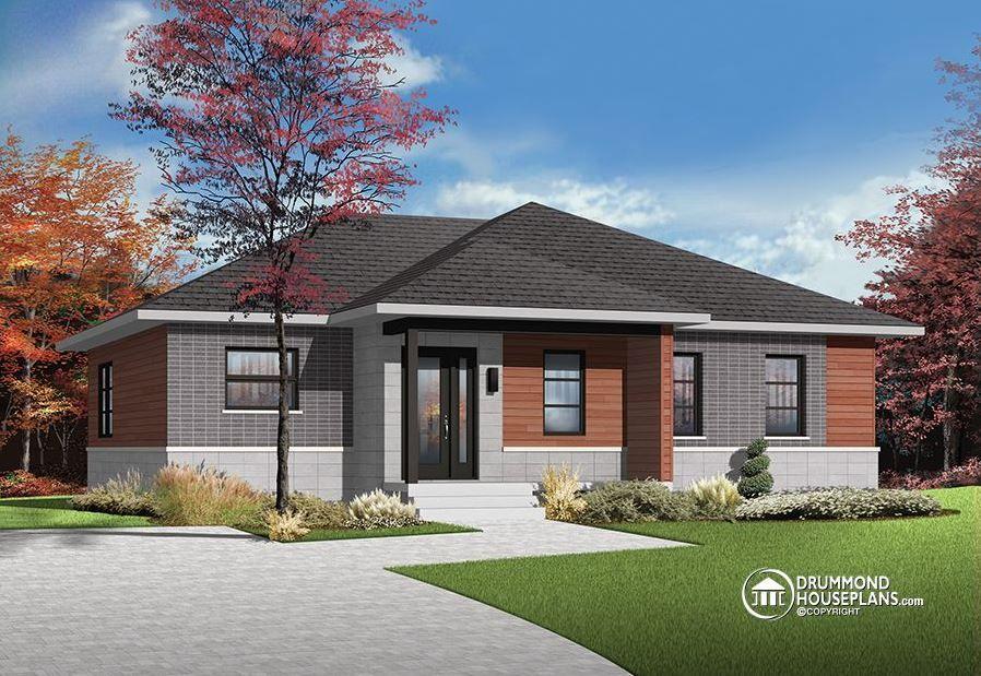 Techo Cuatro Aguas Casas Buscar Con Google Modern Bungalow House Modern Bungalow House Plans Modern House Exterior