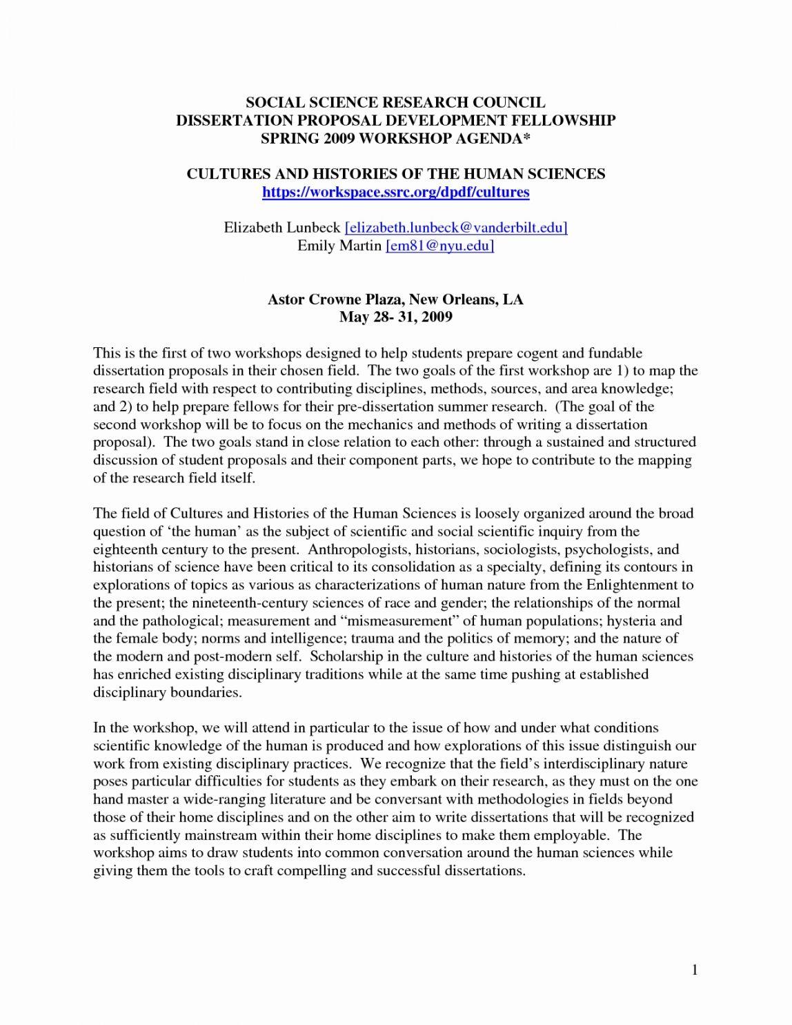 Marketing Research Proposal Template Ssrc Dissertation Fellowship