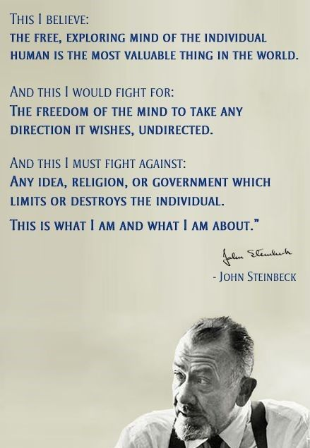 Pin by Bob Thomas on Great Quotes | John steinbeck quotes ...