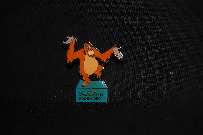 King Louie lapel pin , Jungle book pin , vintage Walt Disney